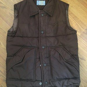 VTG PARDNERS Snap PUFFER VEST Jacket Size Small